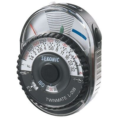 Sekonic L-208 Twin Mate Analog Incident, Reflected Light Meter (CE Version)