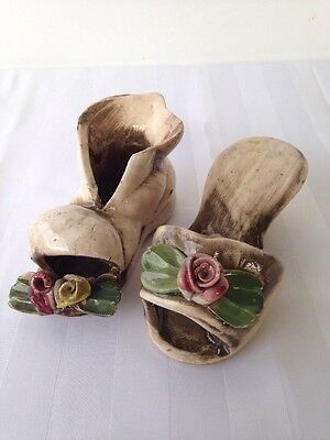 Nuova Capodimonte Porcelain Slipper & Boot.