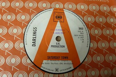 Darlings - Saturday Town c/w Wish You Were Here 1967 UK 45 CBS DEMO MOD/PSYCH