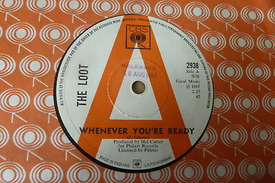 The Loot - Whenever You're Ready 1967 UK 45 CBS DEMO MOD/POWER POP
