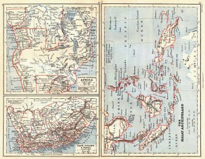 SOUTHERN AFRICA & MALAY ARCHIPELAGO. Cape Colony Indonesia &c. BUTLER 1888 map