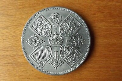 British Crown Coin 1960 About UNC Grade Light Lustre Very Nice.