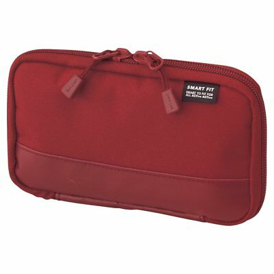 Lihit Lab Compact Pen Case Smart Fit Actact Red A7687-3 Japan Import Free ship