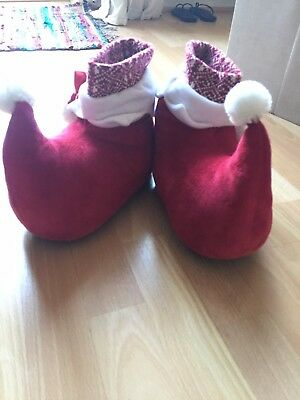 Red christmas elf slippers size 5