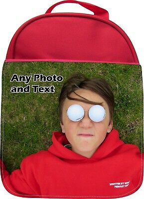 Personalised Your Own Photo Print Kids School Insulated Lunchbox Lunchbag