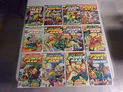Luke Cage Power Man And Iron First Mixed 34 Comic Lot (Hero For Hire)