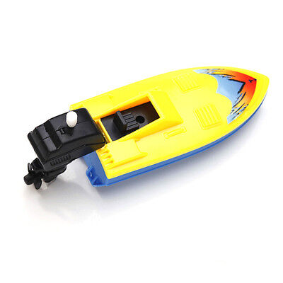 Summer Outdoor Pool Ship Toy Wind Up Swimming Motorboat Boat Toy For Children FG