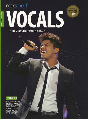 Rockschool Vocals Male Grade 1 Sheet Music Book with Audio Owl City David Bowie
