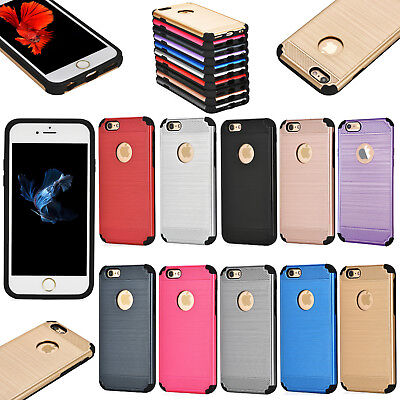 Tough Armor Hybrid Hard Back Builders Case Cover Protector For Apple Iphone Se