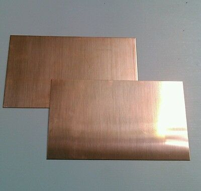 "2 pack of Copper Sheet plate 16 oz. 8""x12""  99.99 pure copper"