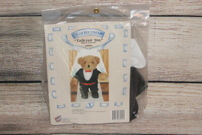 "Tailcoat Tux #82004 Black Tuxedo Treasured Toggery 12"" Bears & Plush Dolls NEW"