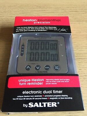 Salter Kitchen Timer - Heston Blumenthal Dual Precision Digital Cooking Timer
