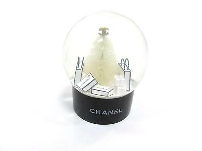 CHANEL Snow Dome Furnishing Glass Plastic White