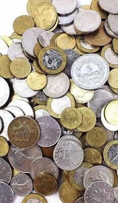 FRANCE set lot French centimes francs unsearched world foreign 15 COINS