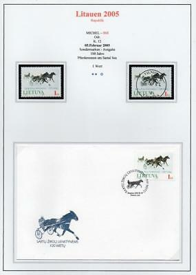 LITHUANIA 2005 MNH/USED-CTO/FDC SG854 Centenary of Horse Races