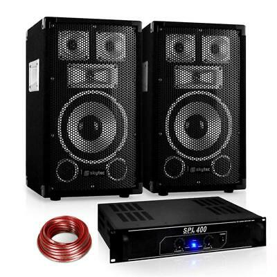 "Skytec Warm Up Party Pa Karaoke System Home Hi-Fi Amplifier & 8"" Dj Speaker Set"