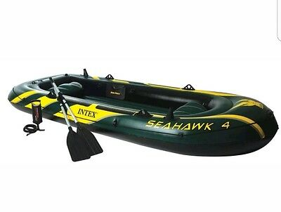 Seahawk 4 Man Inflatable Boat Set