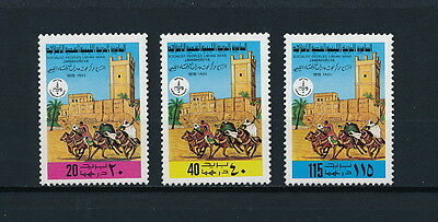 Libya  766-8 MNH, Horses and Riders, 1978