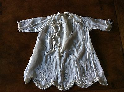 Vintage Christening Gown - 2 Piece ~ Gown And Matching Slip Lace Trim
