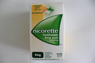 Nicorette Fruitfusion 6mg Sugar-Free Gum Nicotine - 105 Pieces