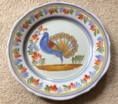 Vintage Henriot Quimper France Signed Plate Wall Charger Faience