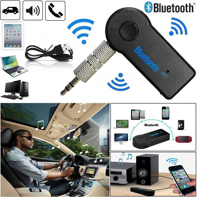 Wireless Bluetooth 3.0 Audio Aux Receiver 3.5mm Music Car Adapter Dongle + Mic