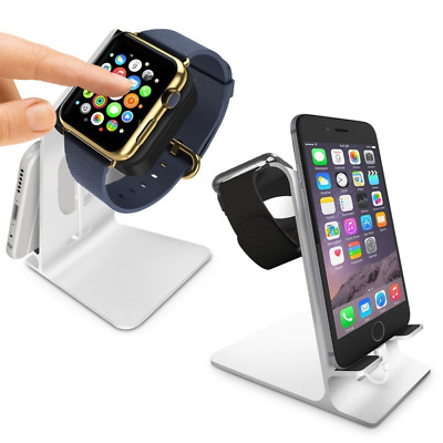 Orzly® Duostand pour Apple Watch – Stand Apple Watch - Station de Charge - Doubl