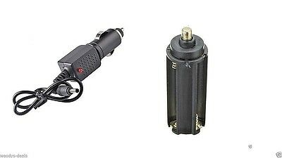 18650 Car Charger + 18650 adapter UK SELLER