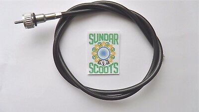 Speedo Cable Black Suitable  For Lml And Px Vespa Scooters .
