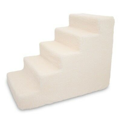 Best Pet Supplies Foam Stairs Steps 5-Step Lambswool Ramps Stairs Dog Pet Soft