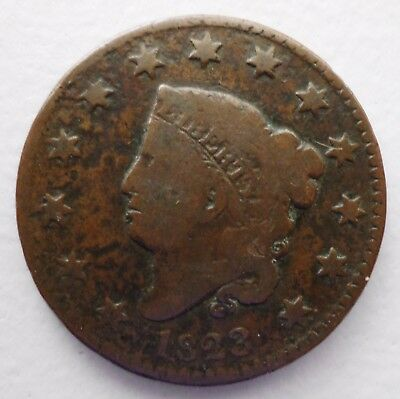 1823 Coronet Large Cent RARE KEY DATE G/G+ or Better No Reserve!!