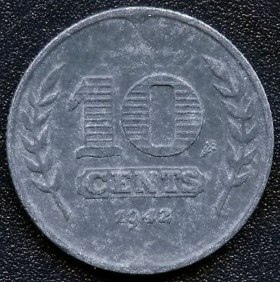 1942 Netherlands 10 Cent Coin