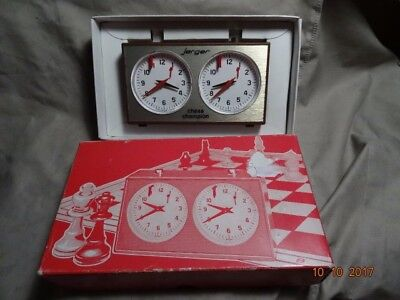 Jerger Chess Champion Time Competition Clock Made in Germany
