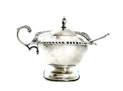 International Silver Sterling Silver 190 Grams Mustard Pot and Spoon No Mono