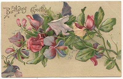 Art postcards collectibles page 48 picclick original gilded age victorian floral birthday greeting postcard posted 1908 m4hsunfo