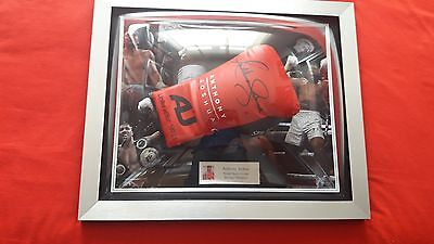 Anthony Joshua hand signed limited edition red boxing glove with signing proof