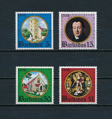 Barbados  420-3 MNH, 150th Anniversary of the Anglican Diocese, 1975