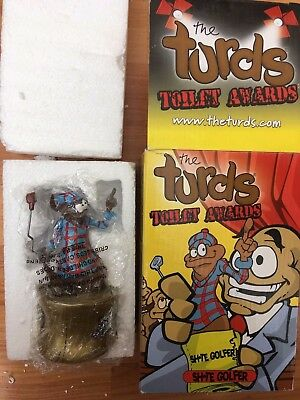 Boxed The Turds Decorative Oranaments - Figurine Toilet Awards Sh*te Golfer