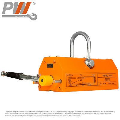 PROWINCH Permanent Magnetic Lifter 6600 lb / 3000 kg Safety Factor 3:1
