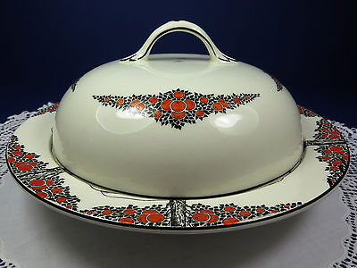 Crown Ducal ~ Orange Tree Pattern ~ Large Covered Muffin Dish