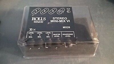 Rolls MX28 MINI-MIX VI Three-Channel True Stereo Line Mixer