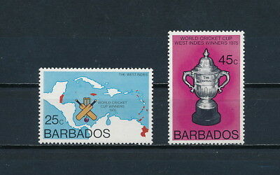 Barbados  438-9 MNH, Cricket, 1976