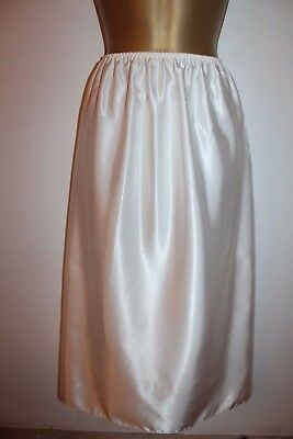 Stunning Vtg Bhs Glossy Ivory Classic Half Slip Size 16 New With Tags