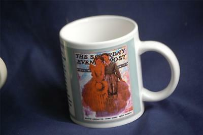 The Saturday Evening Post Norman Rockwell Coffee Mug 7/11/1936 Curtis Publishing