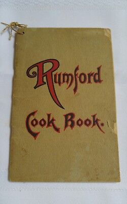 Vintage Rumford cook booklet pamphlet recipes advertising.