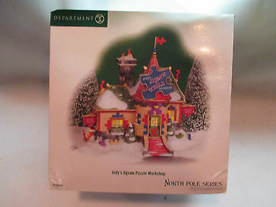 """Dept 56 North Pole Series """"Jolly's Jigsaw Puzzle Workshop""""  #56 799916"""