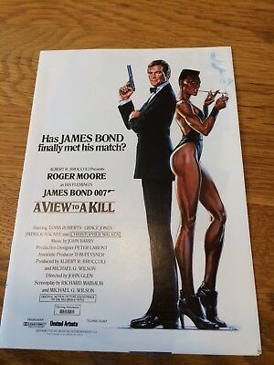 A View To A Kill, Odeon Cinema foyer leaflet. James Bond 007