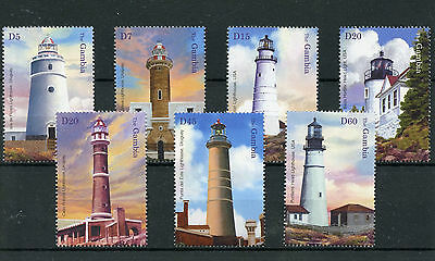Gambia 2004 MNH Lighthouses II 7v Set Punta del Este Portland Head Stamps