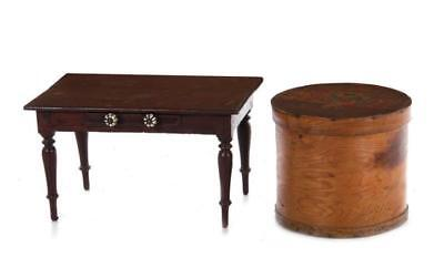American primitive painted box and miniature table (2pcs) Lot 1210