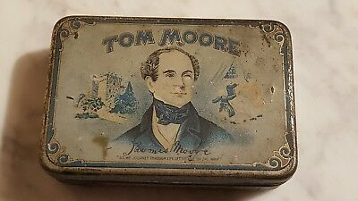 """Tom Moore Cigar Tin """"The Mildest Cigar In The World"""""""